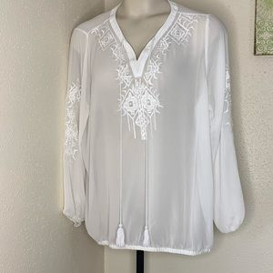 Lane Bryant NEW, embroidered Peasant top 18/20